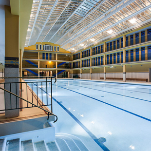Molitor swimming pool in Paris lighted with LED